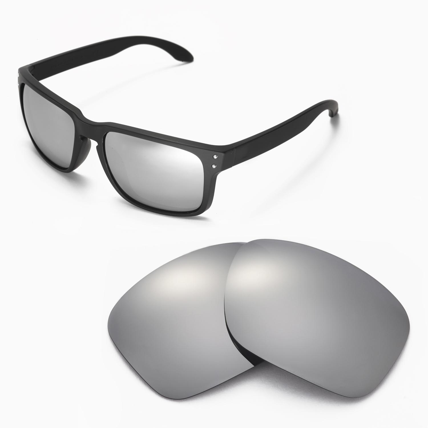 07b3b89adbf Details about New Walleva Titanium Replacement Lenses For Oakley Holbrook  Sunglasses