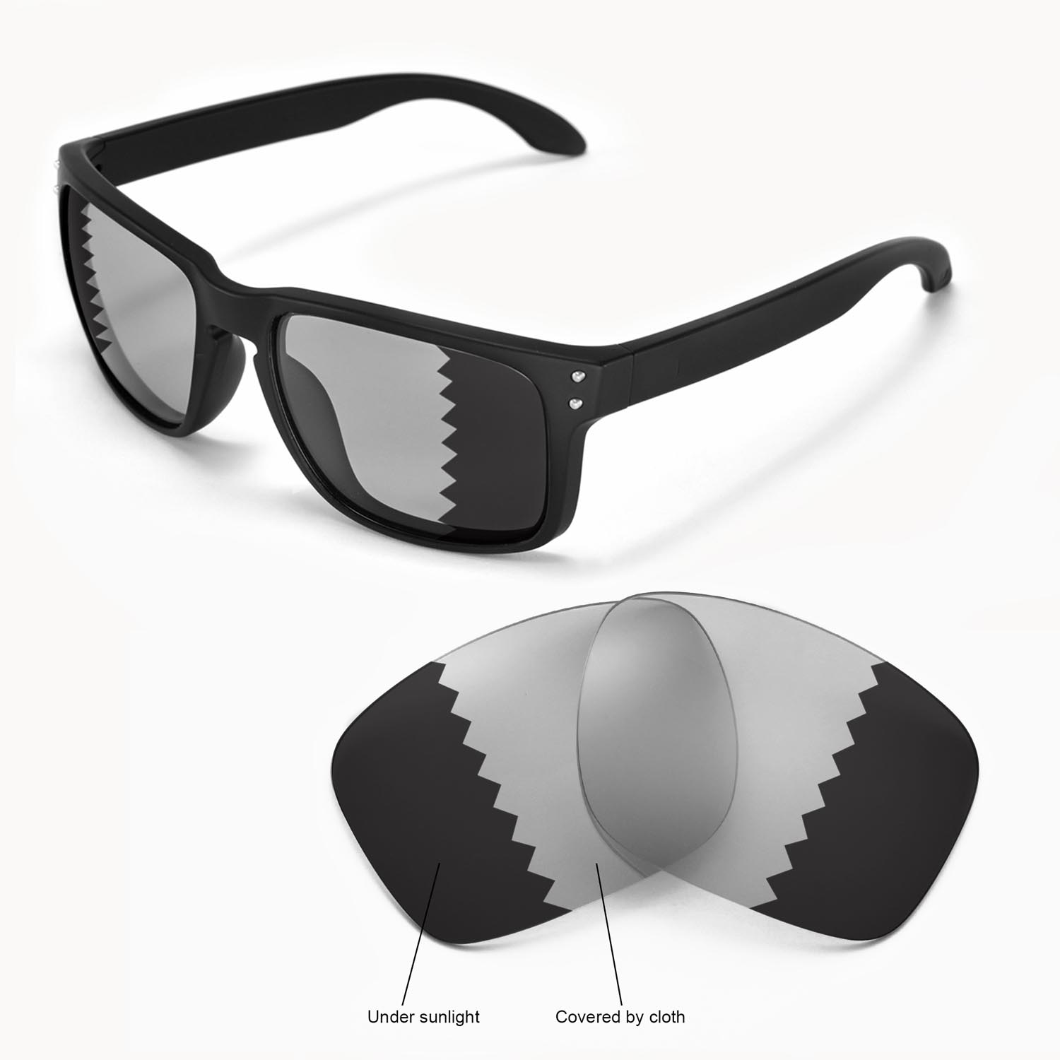 5f8476f3afb3e Details about New Walleva Polarized Transition Photochromic Lenses For  Oakley Holbrook