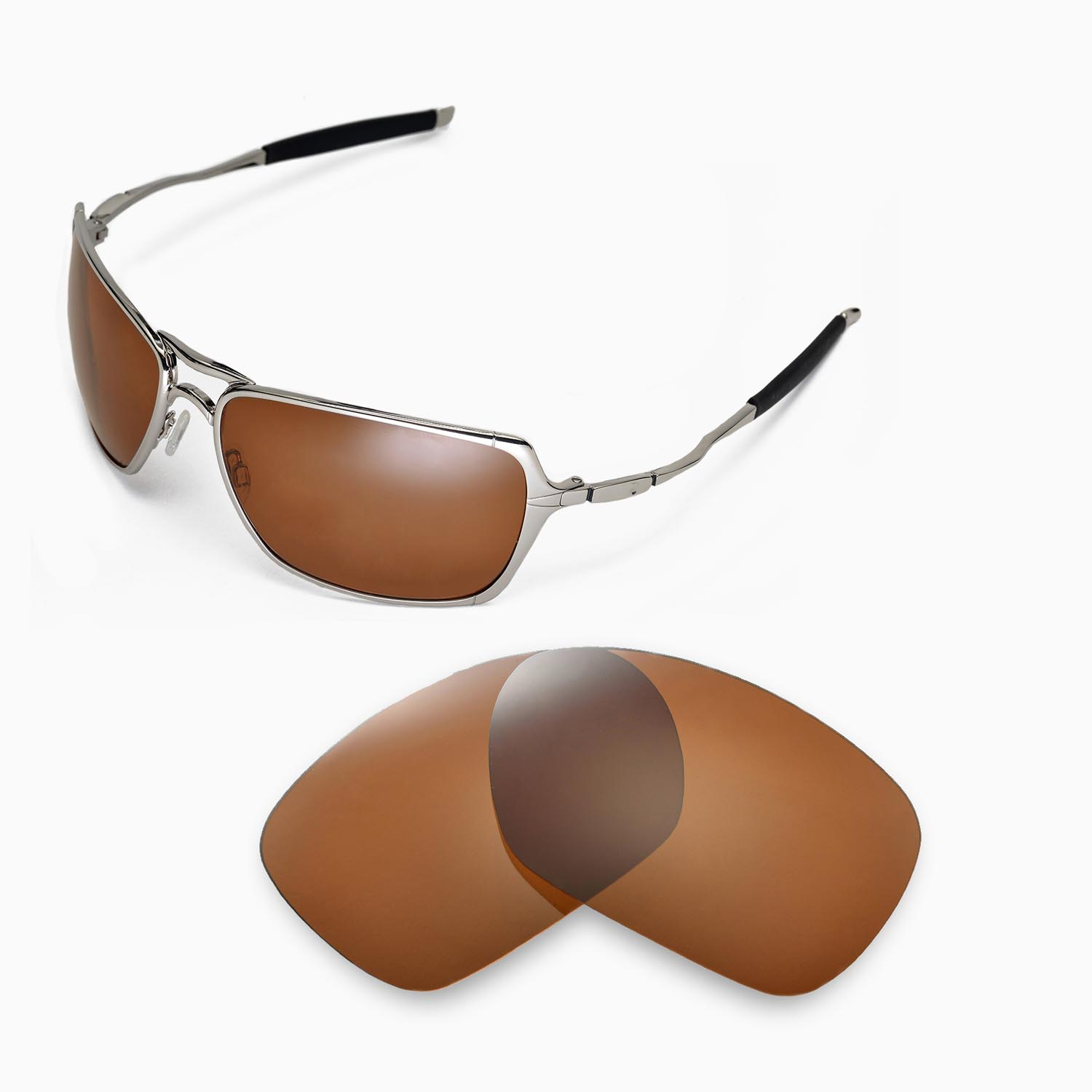 1906a3fd03 New Walleva Polarized Brown Replacement Lenses For Oakley Inmate ...