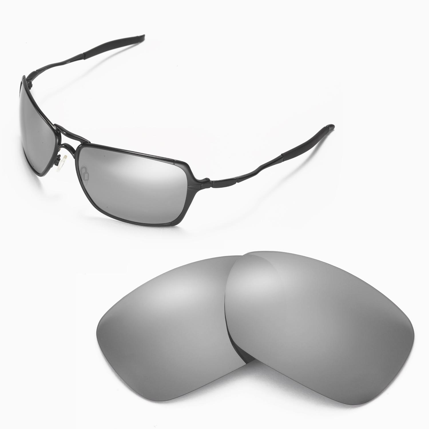 eff4487da92c4 Details about New Walleva Polarized Titanium Replacement Lenses For Oakley  Inmate Sunglasses