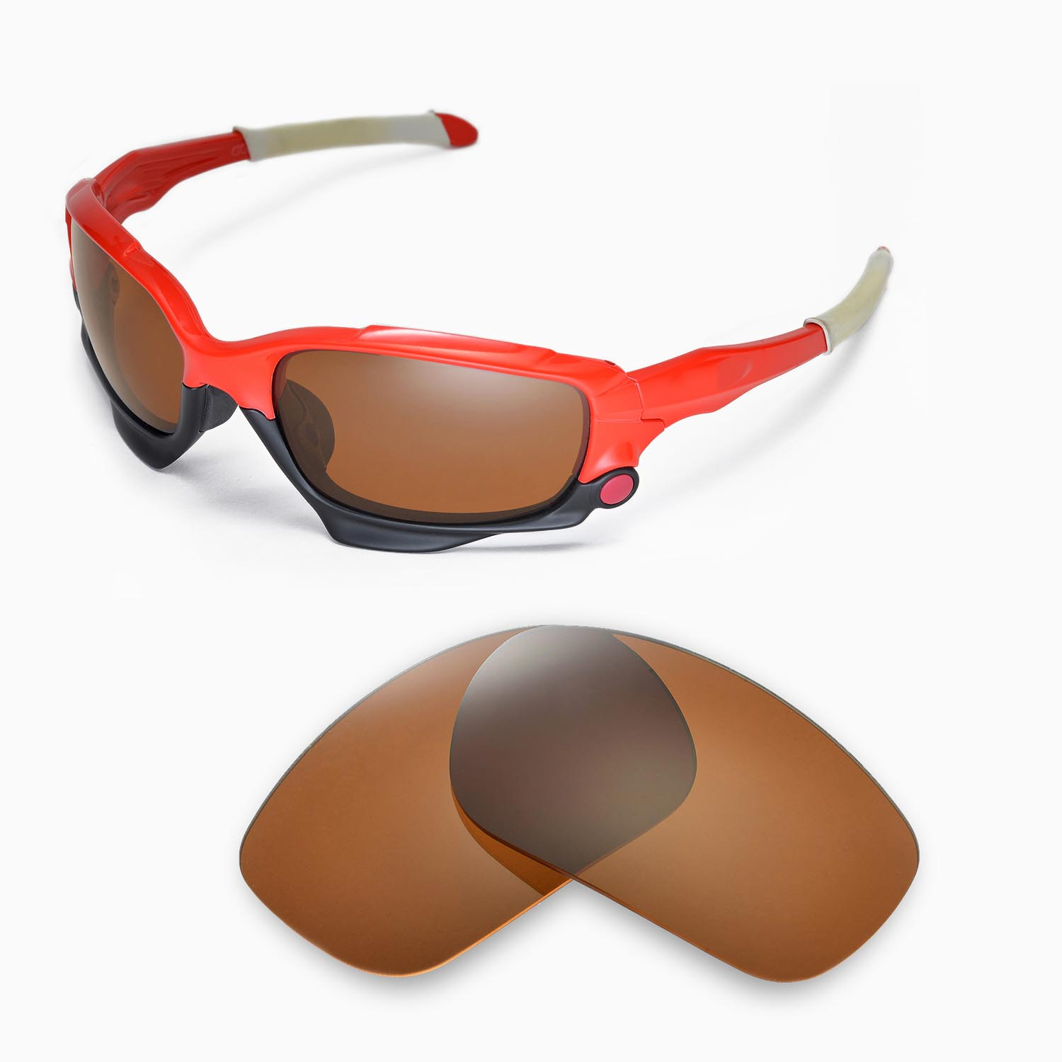 f04082b1a7e Details about New Walleva Polarized Brown Replacement Lenses For Oakley  Jawbone Sunglasses