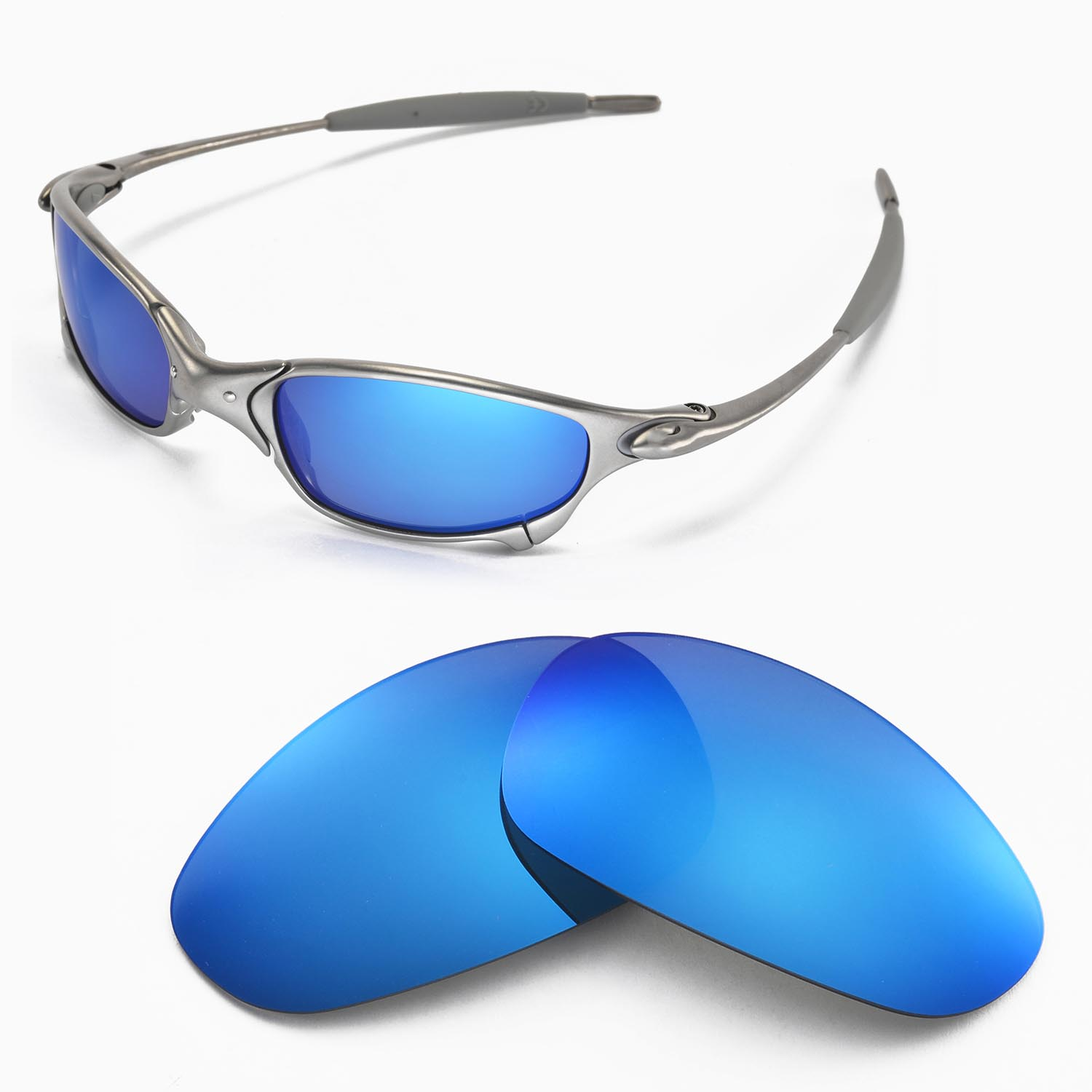 c9dd6b4f30 New Walleva Polarized Ice Blue Lenses For Oakley Juliet 661799386050 ...