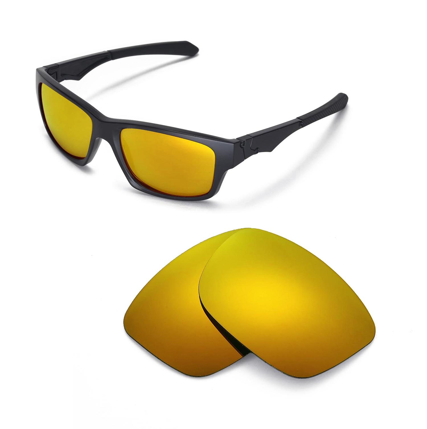 4aea53d25a691 New Walleva Polarized 24K Gold Replacement Lenses For Oakley Jupiter ...