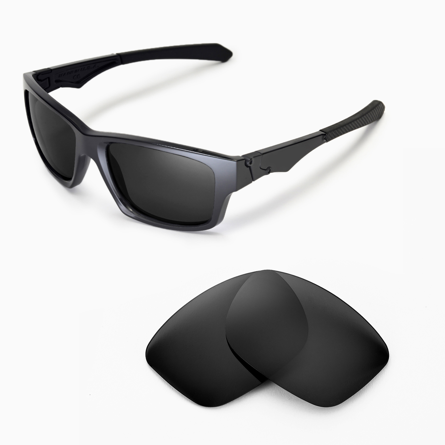 6723ef42d85 Details about New WL Polarized Black Replacement Lenses For Oakley Jupiter  Squared Sunglasses