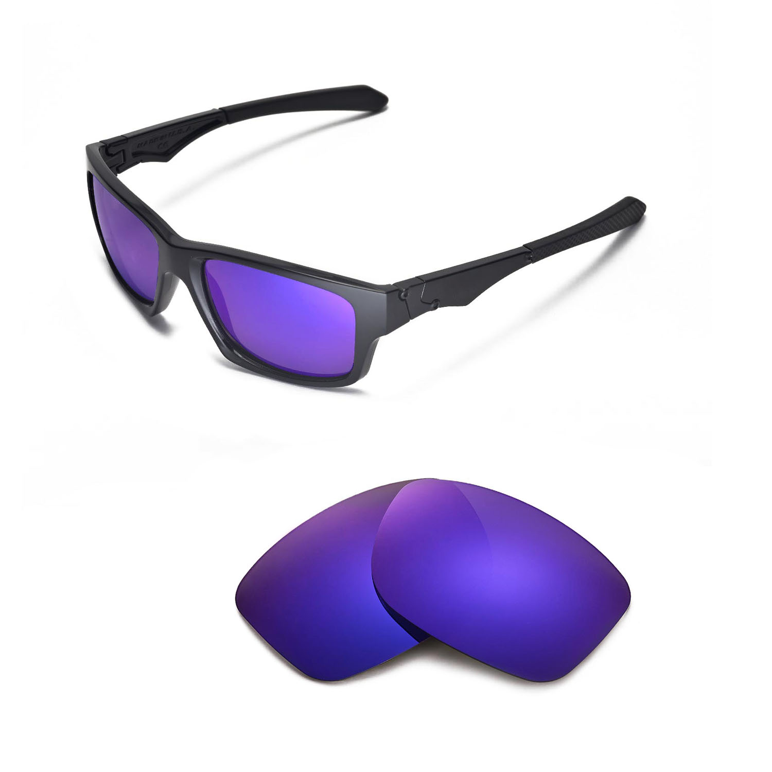 b51ba9cb62 ... norway walleva polarized purple lenses for oakley jupiter squared x1  walleva microfiber lens cleaning cloth x1
