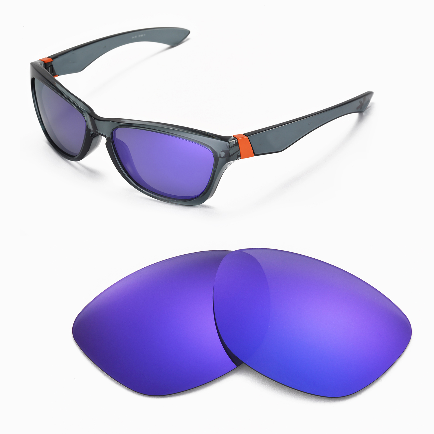 3ab02ee4edf Details about New Walleva Polarized Purple Replacement Lenses For Oakley  Jupiter Sunglasses