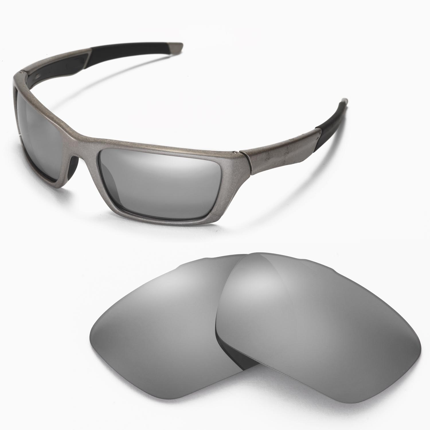 4082bda07a5 Details about New Walleva Polarized Titanium Replacement Lenses For Oakley  Jury Sunglasses