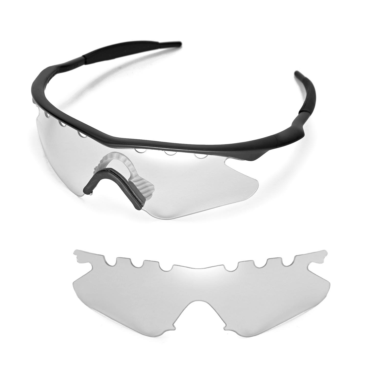 New Walleva Clear Vented Replacemen t Lenses for Oakley M Frame ...