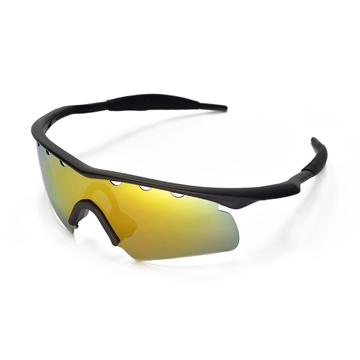 8c324aff6a Details about New WL Polarized 24K Gold Vented Replacement Lenses for Oakley  M Frame Hybrid