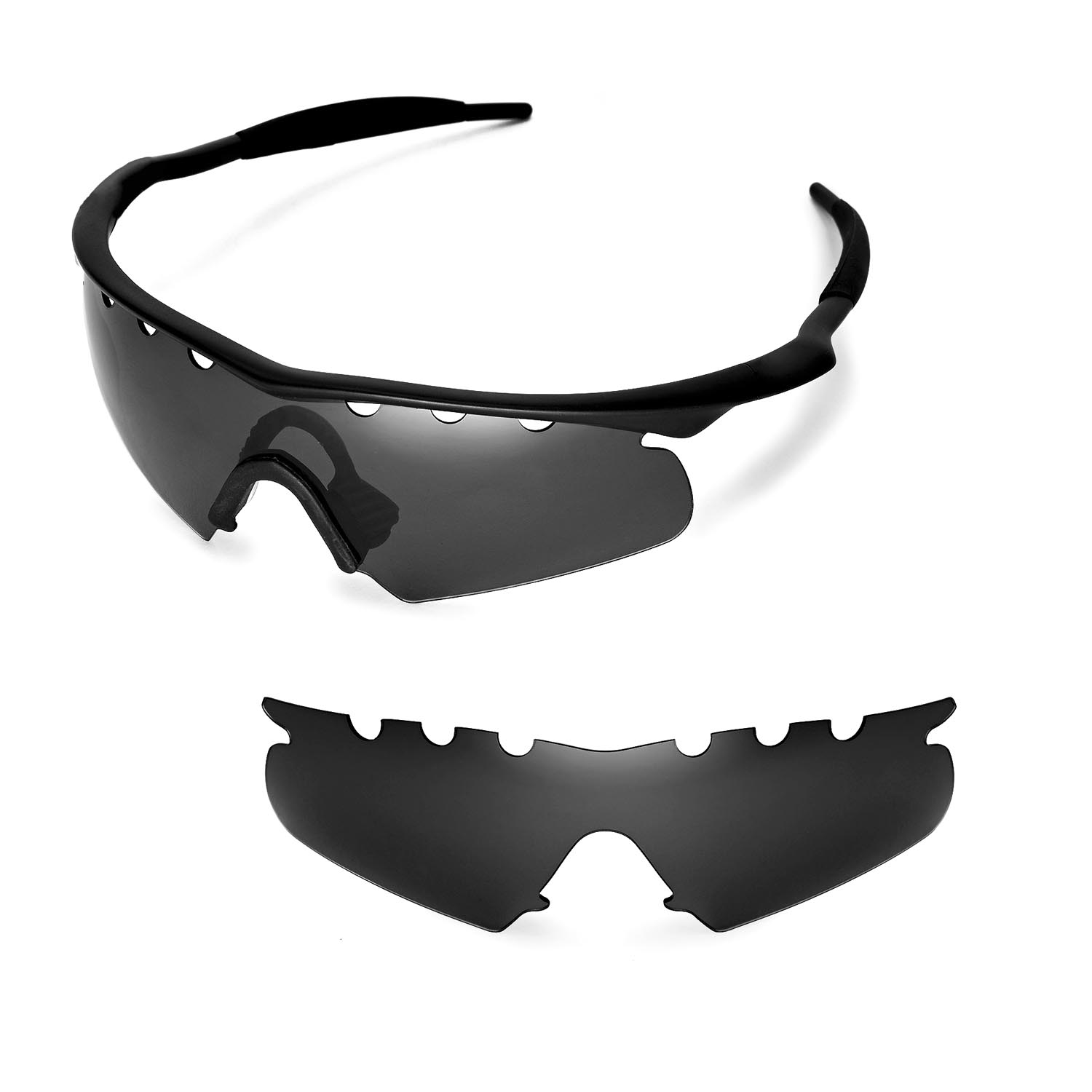 New WL Polarized Black Vented Replacement Lenses for Oakley M Frame ...