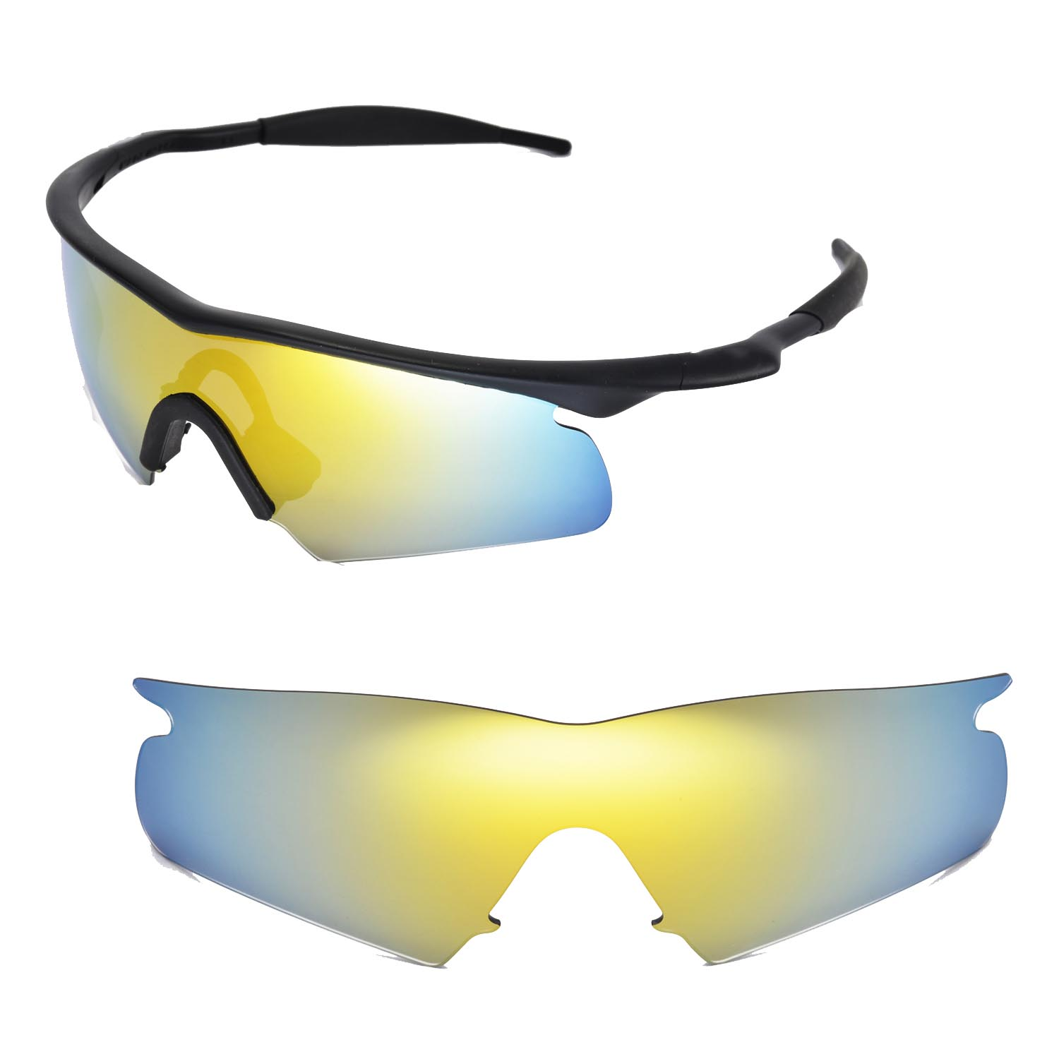 9f07c3d4b55 Details about New Walleva Polarized 24K Gold Replacement Lenses For Oakley  M Frame Hybrid
