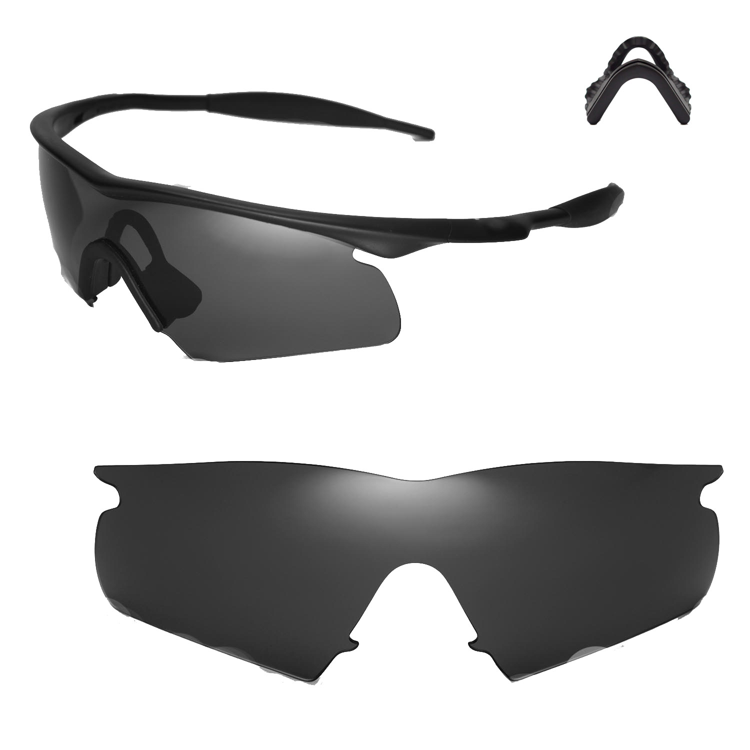940dc924016 Details about New Walleva Black Replacement Lenses For Oakley New M Frame  Hybrid Sunglasses
