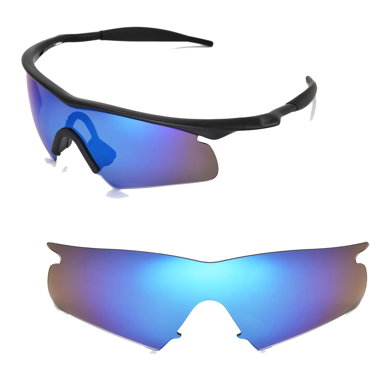 bb682286ad Walleva Replacement Lenses for Oakley M Frame Hybrid Sunglasses ...