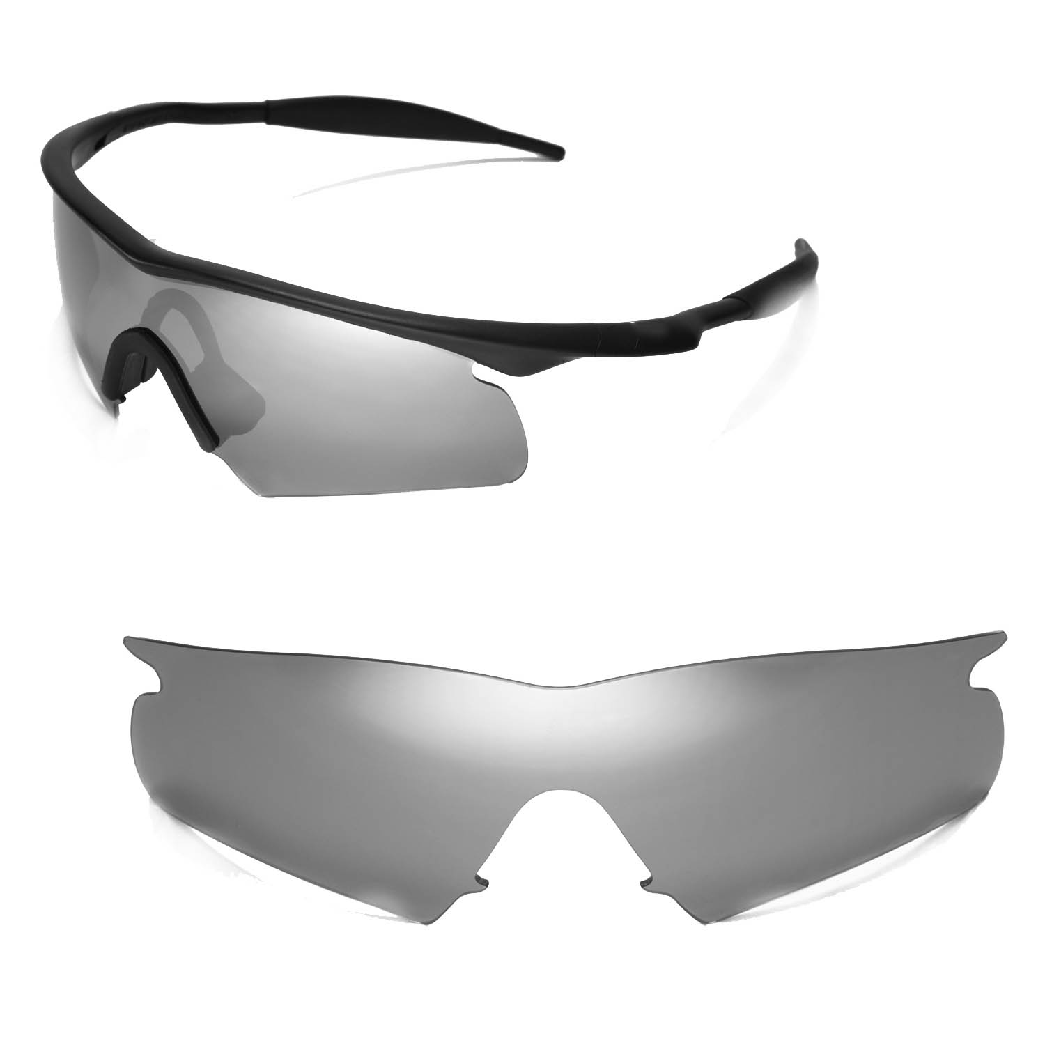 14d486da294 Details about New Walleva Polarized Titanium Replacement Lenses For Oakley  New M Frame Hybrid