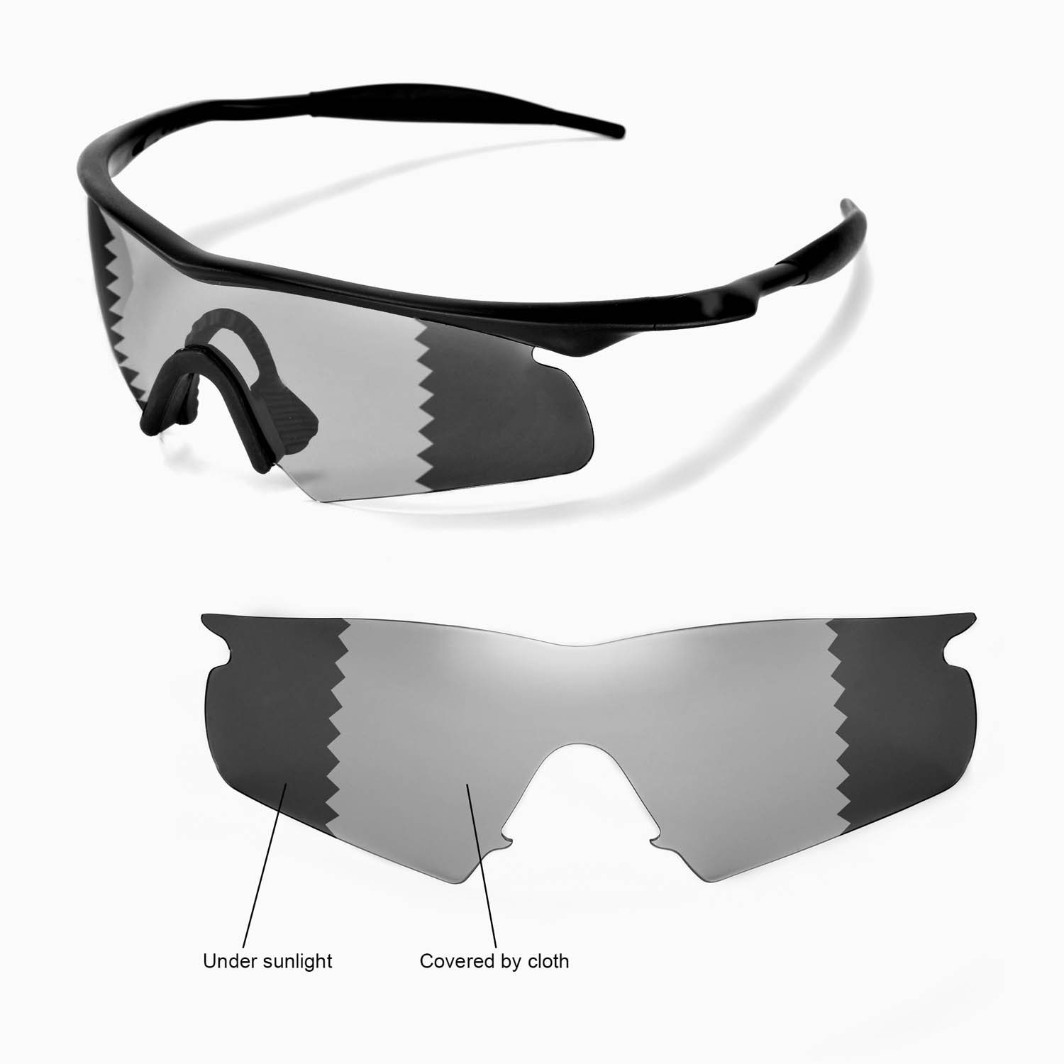 ... Oakley M Frame Hybrid x1; Walleva Microfiber Lens Cleaning Cloth x1.  main image