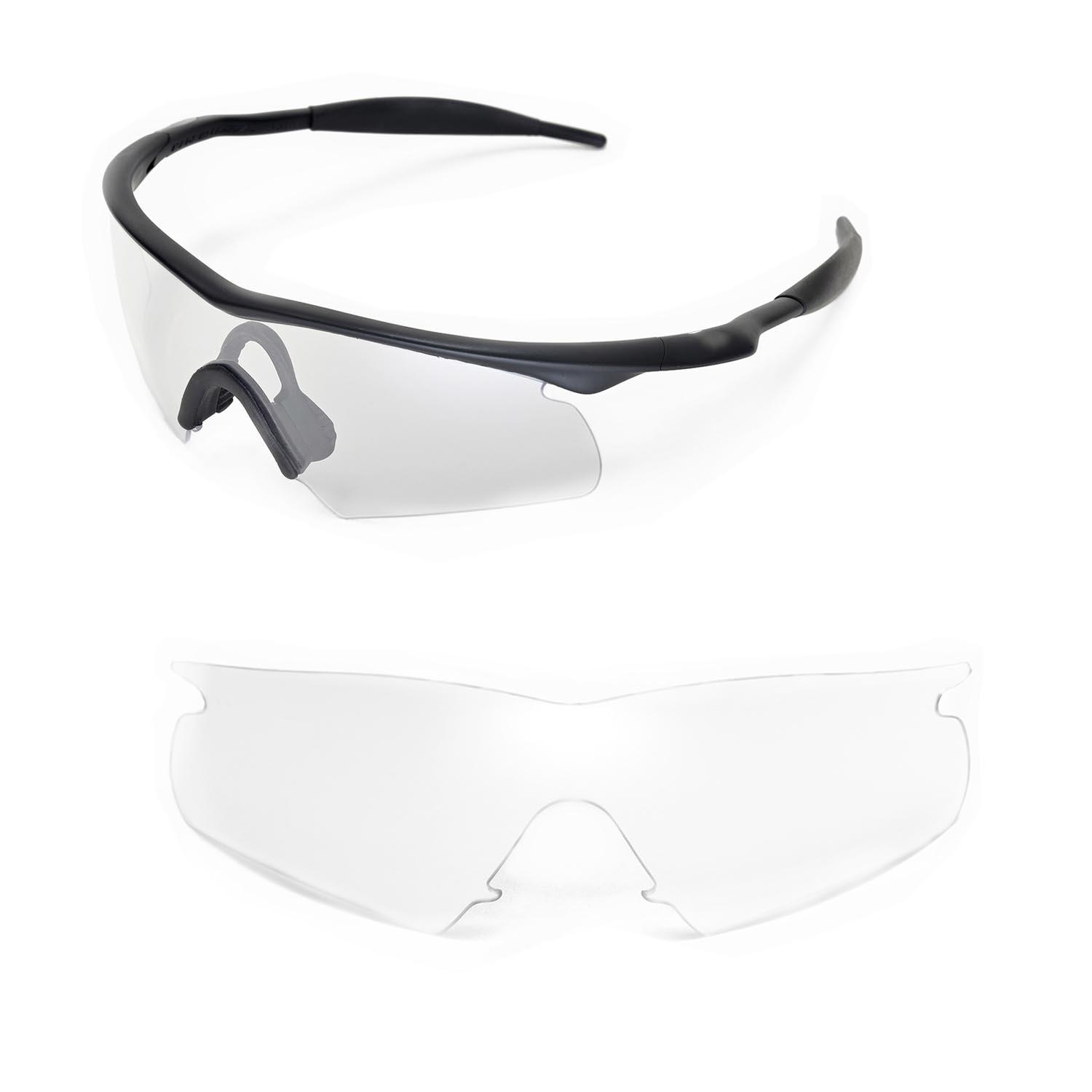 New Walleva Clear Replacement Lenses For Oakley New M
