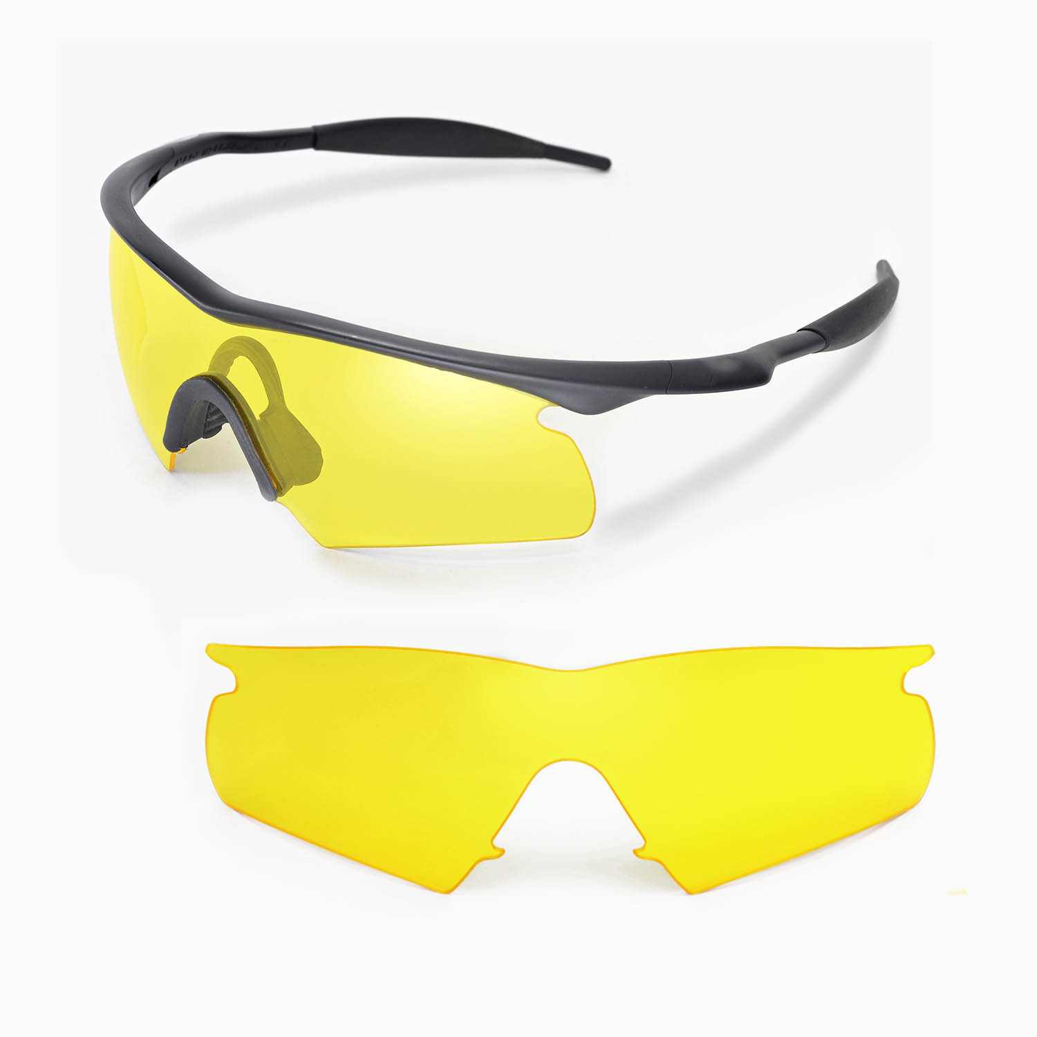 5acfa53fdfd Details about New Walleva Yellow Replacement Lenses For Oakley New M Frame  Hybrid Sunglasses