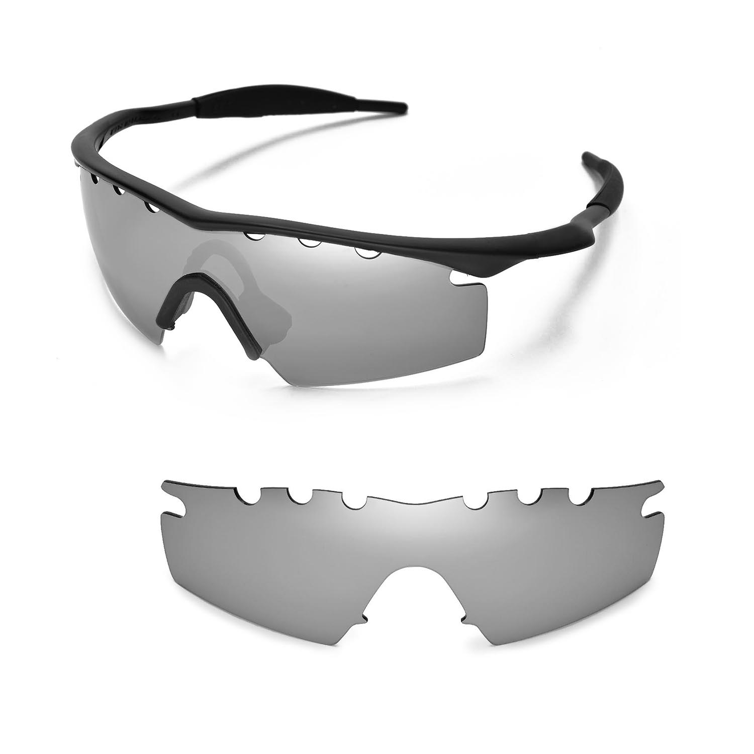 New WL Polarized Titanium Vented Replacement Lenses For Oakley M ...