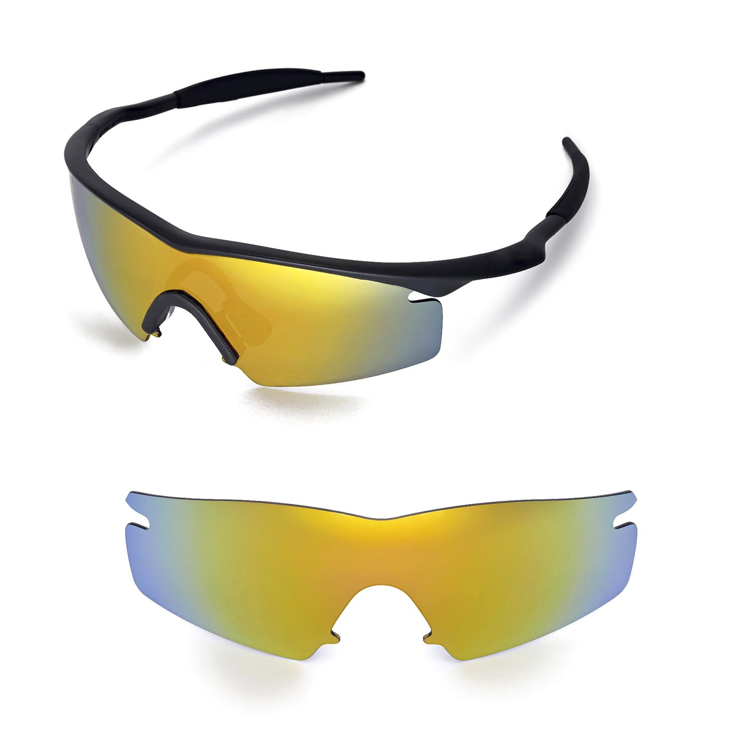 4dfd37a068 Details about WL Polarized 24K Gold Replacement Lenses For Oakley M Frame  Strike Sunglasses