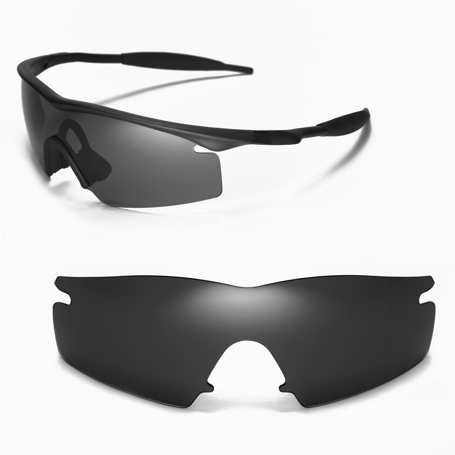 0d0dfd3ca6 Details about New WL Polarized Black Replacement Lenses For Oakley M Frame  Strike Sunglasses