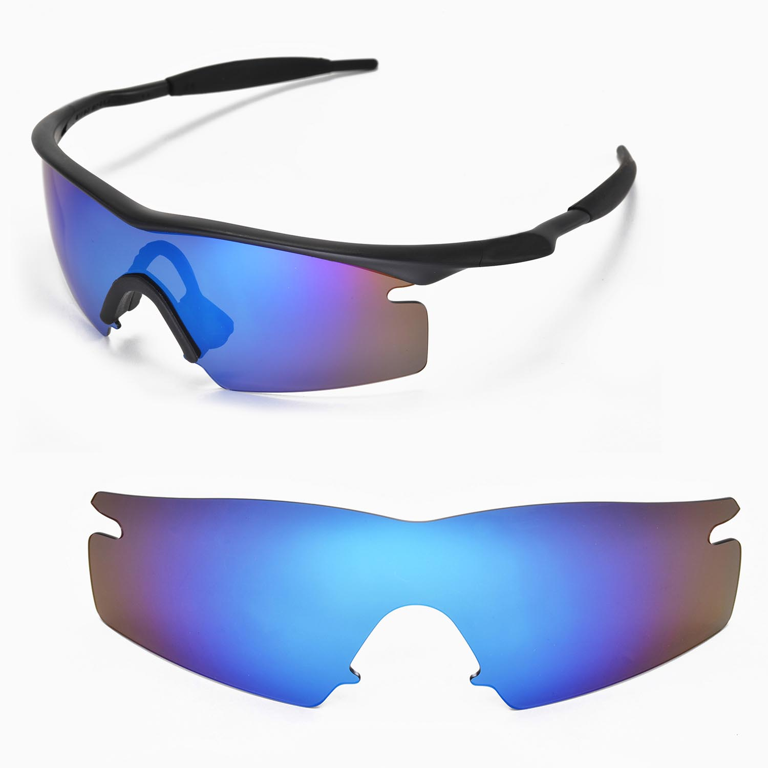 1cc788bd7a Details about New Walleva Polarized Ice Blue Replacement Lenses For Oakley  M Frame Strike