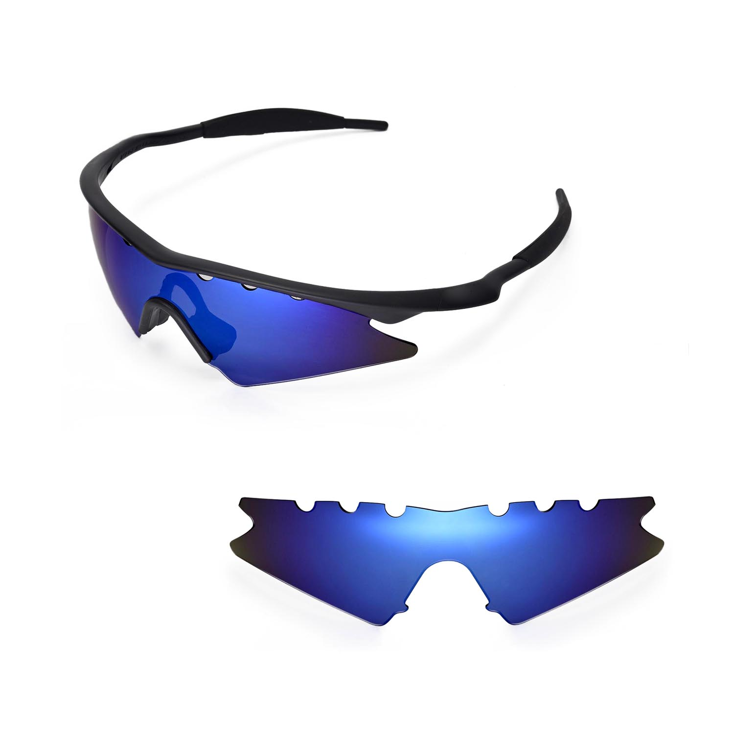 ab19fb50b77 Details about New WL Polarized Ice Blue Vented Replacement Lenses for  Oakley M Frame Sweep