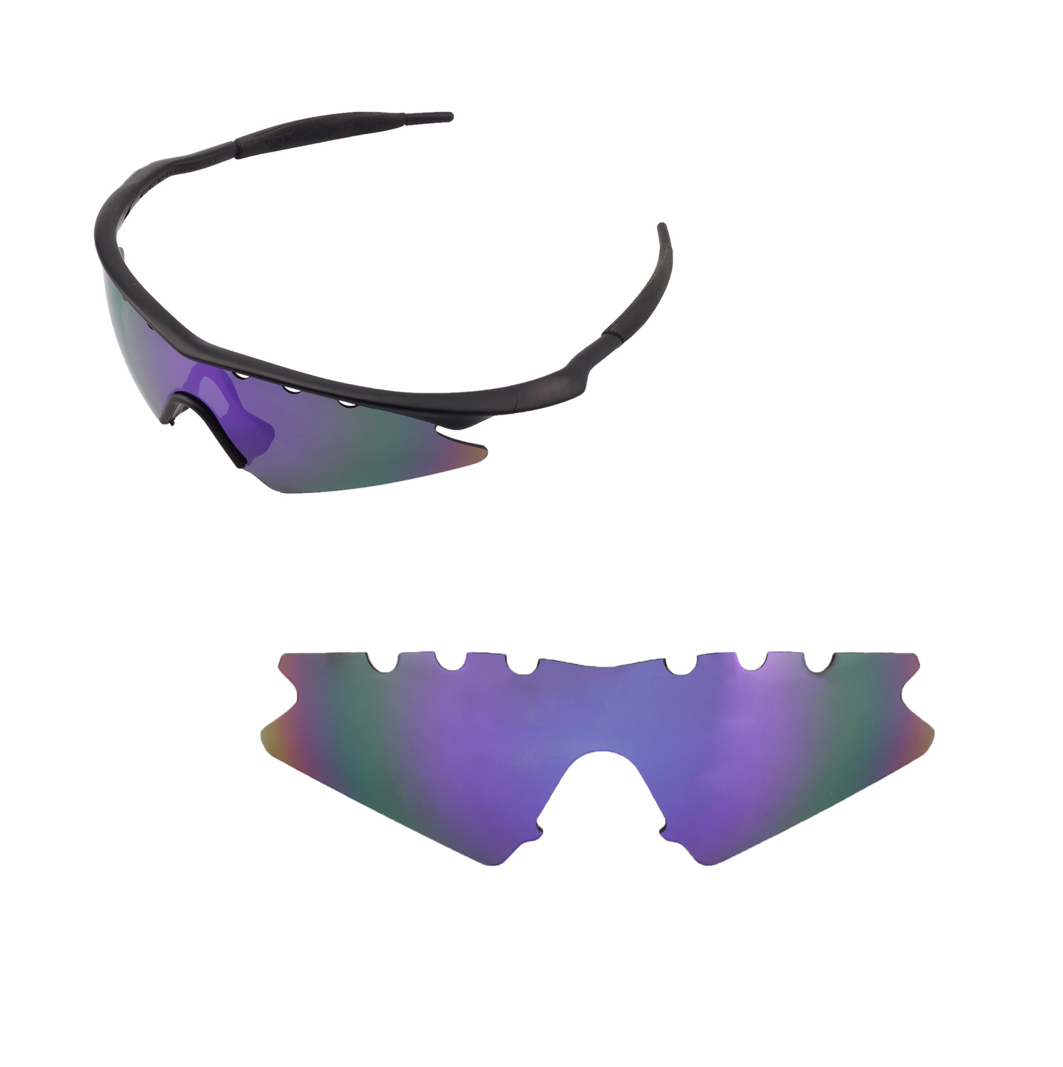 af8989f9a4211 ... shopping walleva polarized purple vented lenses for oakley m frame  sweep x1 walleva microfiber lens cleaning