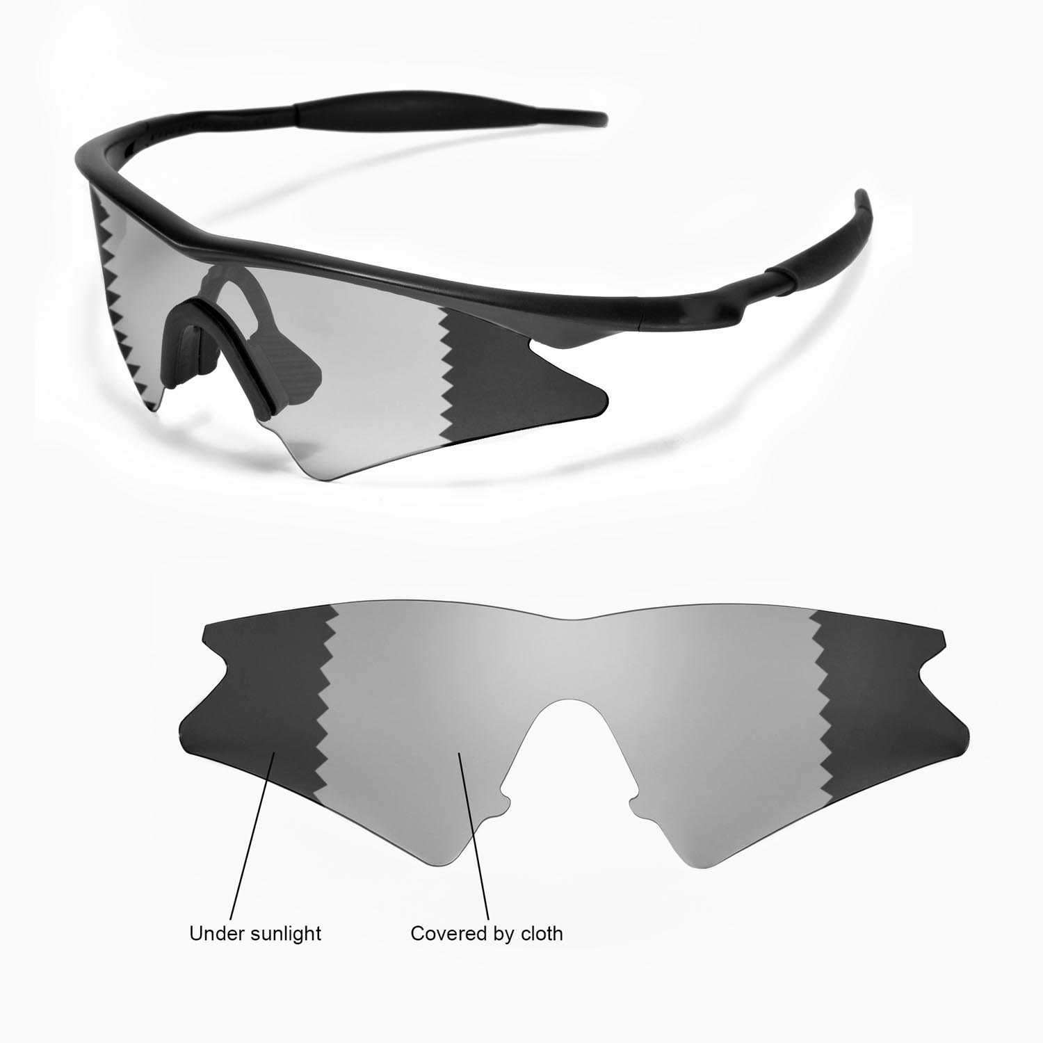 8b912c94010 Details about New WL Polarized Transition Photochromic Lenses For Oakley  New M Frame Sweep