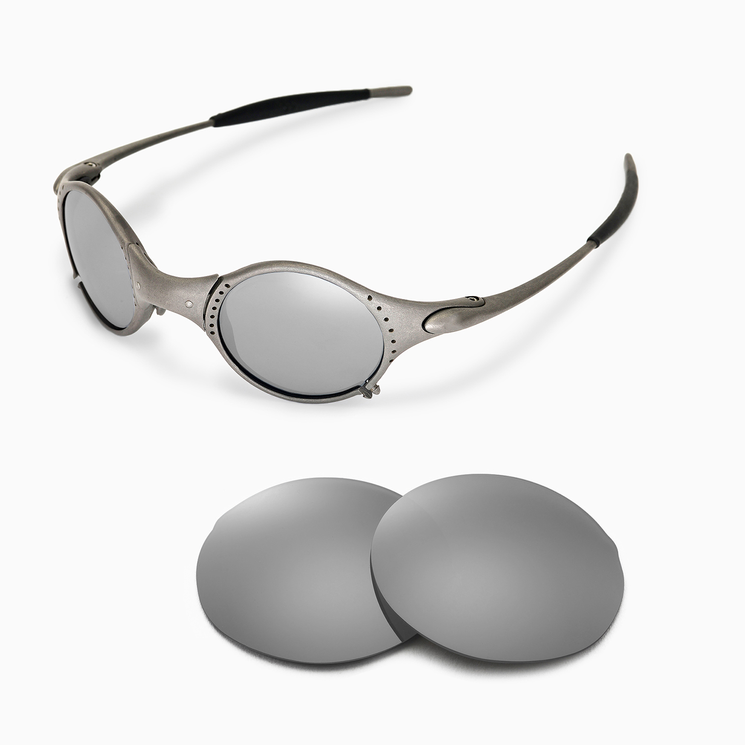 d8d7fc860f Details about New Walleva Polarized Titanium Replacement Lenses For Oakley  Mars Sunglasses