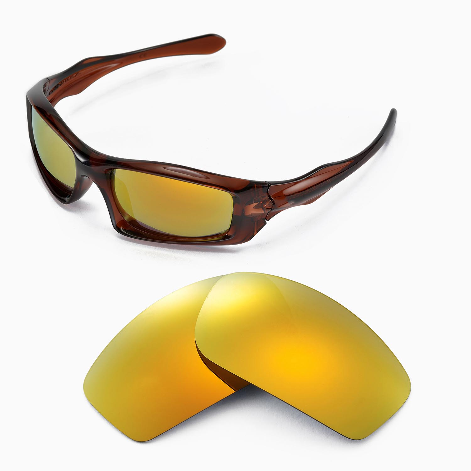 2f58f8f2e6 Details about New WL Polarized 24K Gold Replacement Lenses For Oakley  Monster Pup Sunglasses
