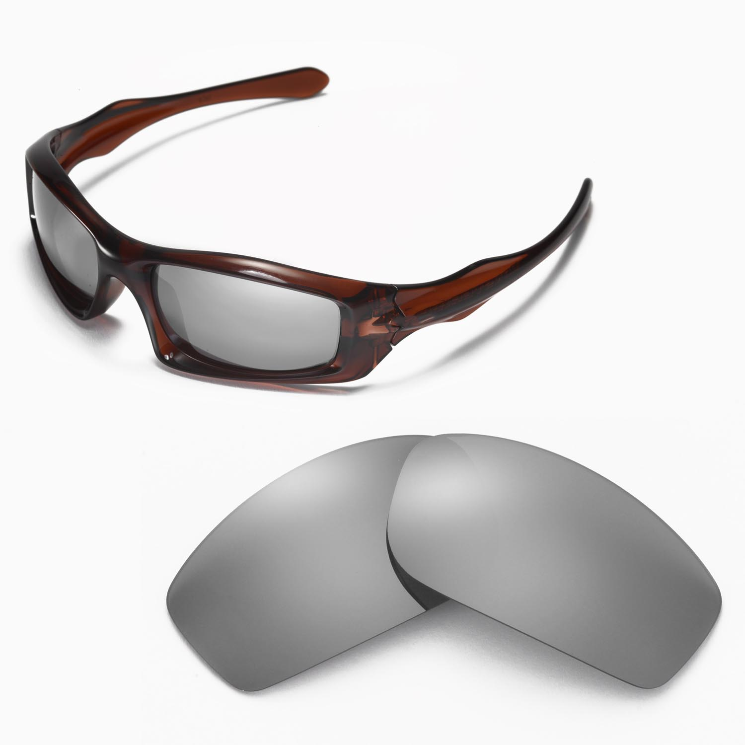 47db70b9c1 Details about New Walleva Polarized Titanium Lenses For Oakley Monster Pup