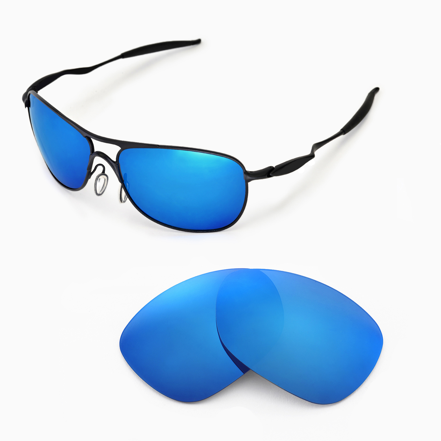 cf88fa441e Details about WL Polarized Ice Blue Replacement Lenses 4 Oakley New  Crosshair (2012 or later)