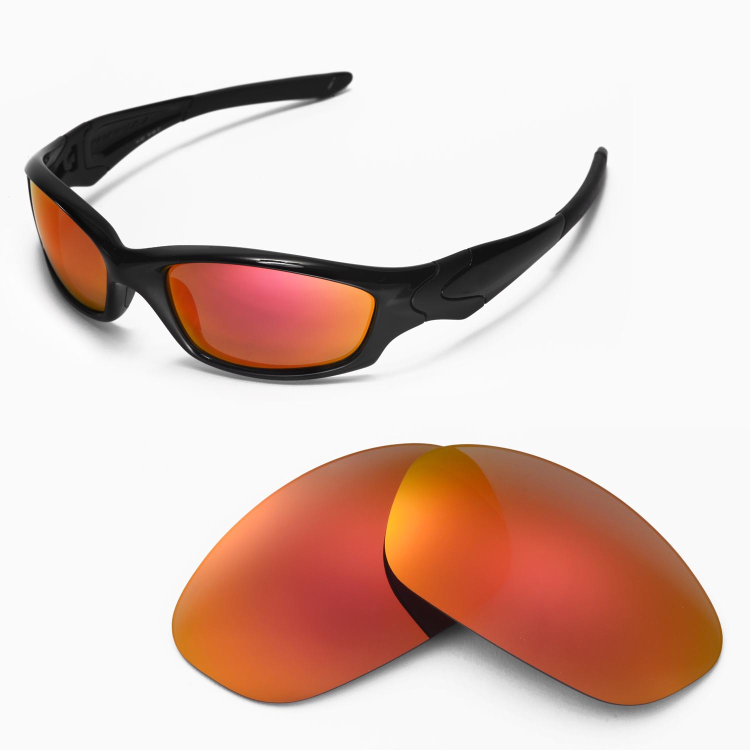 aeea231b05e Details about WL Polarized Fire Red Lenses For Oakley New Straight Jacket  (After 2007)