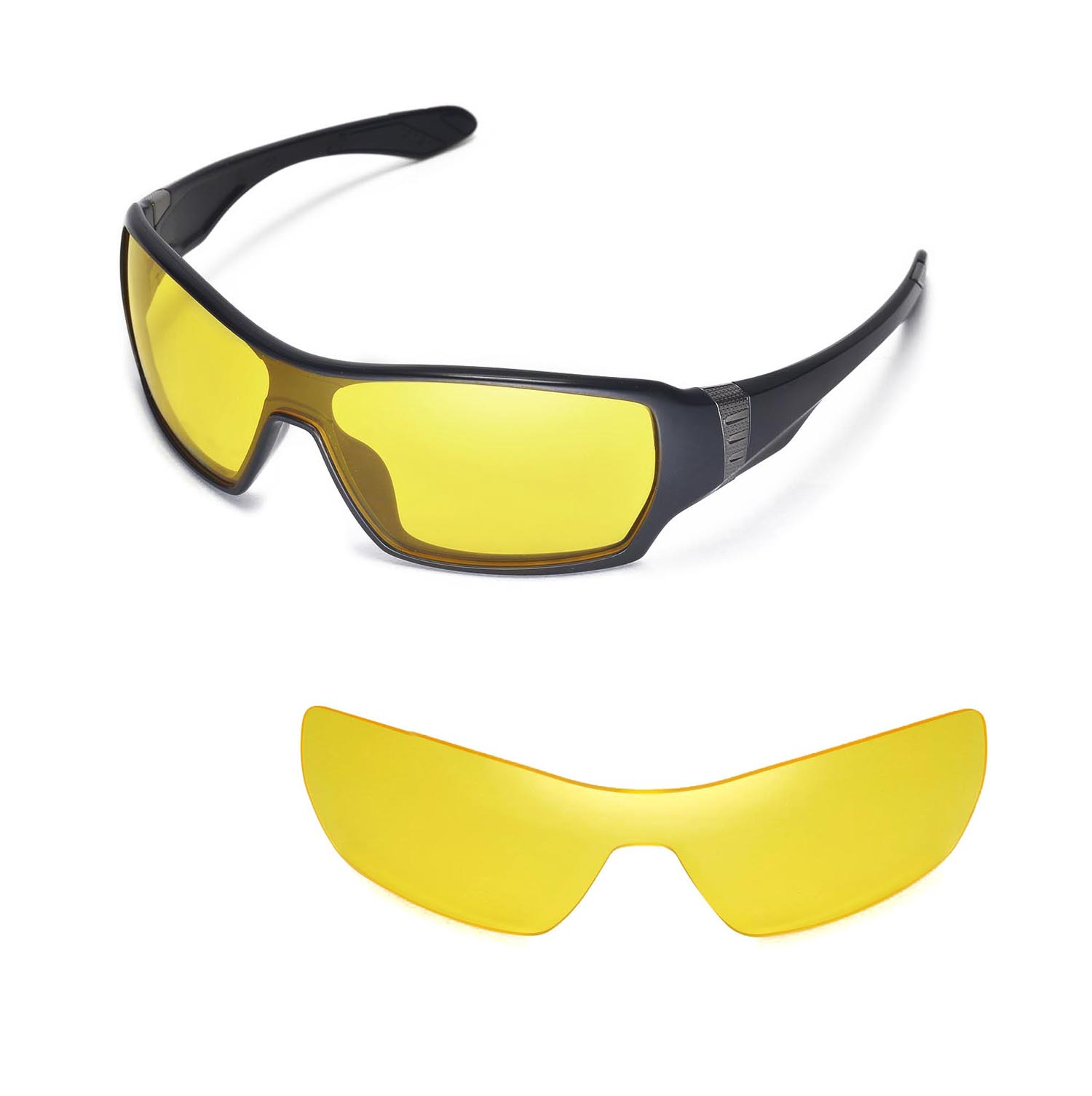 b4273d1bc0 Walleva Yellow Lenses for Oakley Offshoot x1  Walleva Microfiber Lens  Cleaning Cloth x1