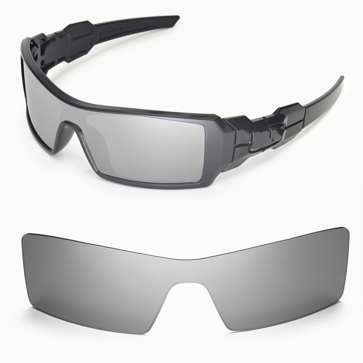 f29010ee57740 Details about New Walleva Titanium Lenses For Oakley Oil Rig Sunglasses