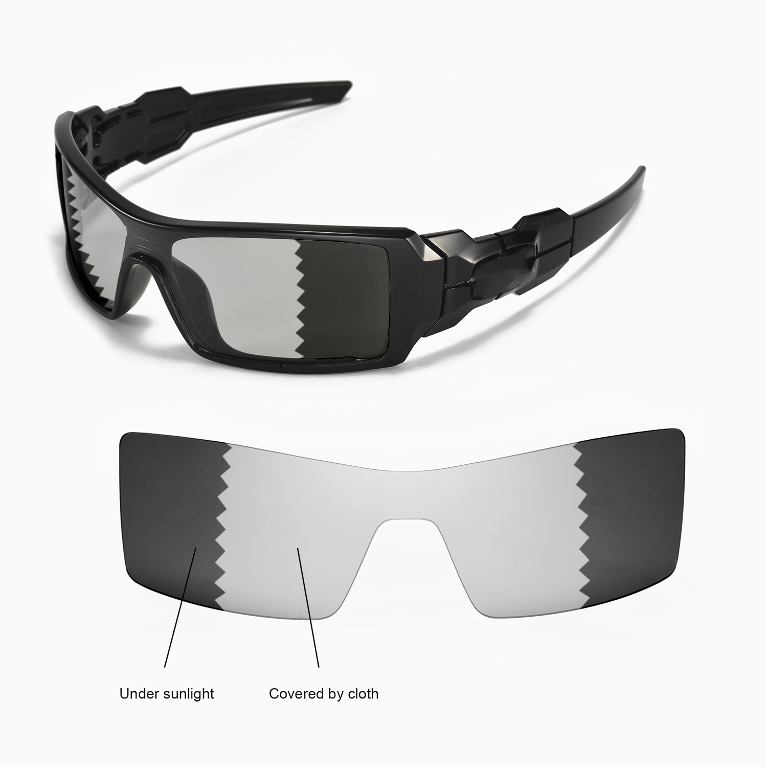 bbd8866668f Details about New Walleva Polarized Transition Photochromic Lenses For  Oakley Oil Rig