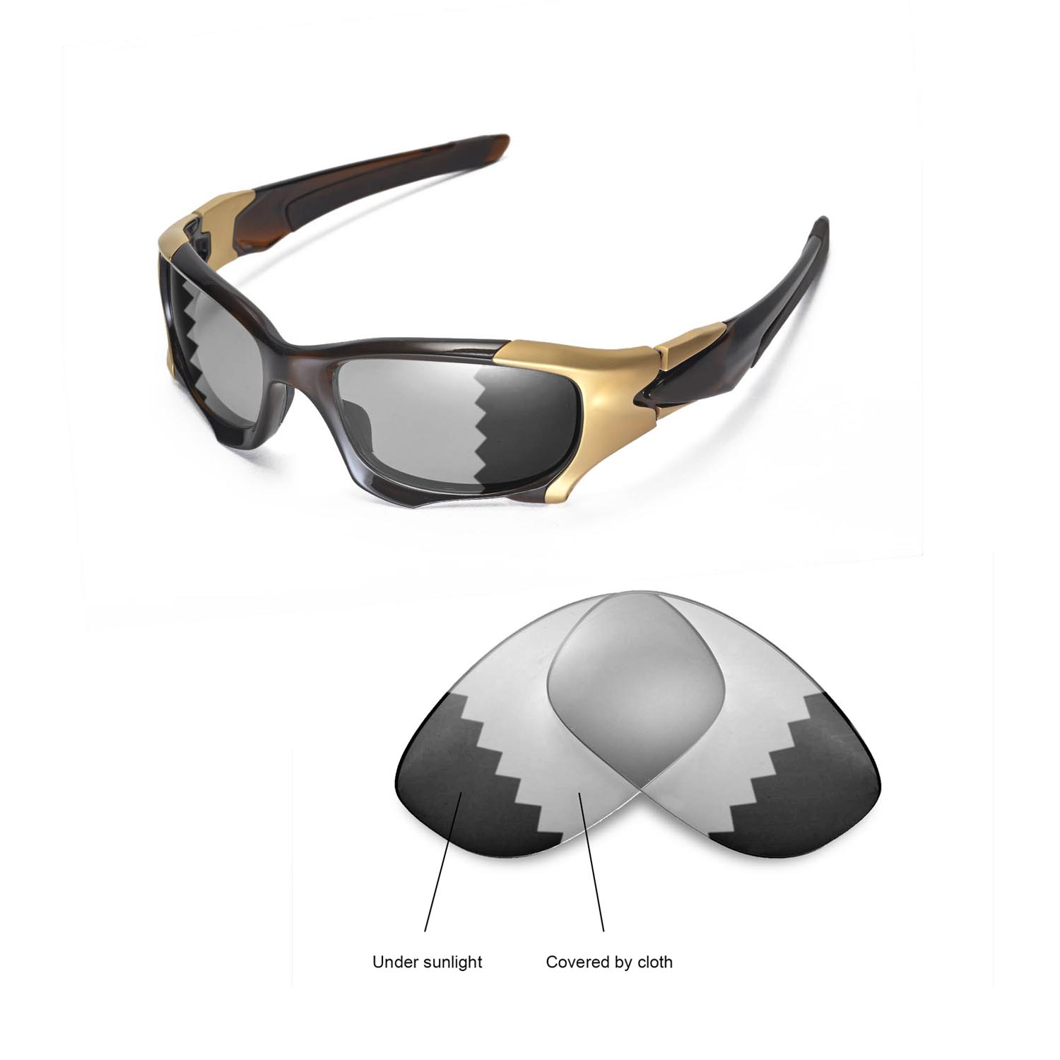 d9dbd14d81 Details about New Walleva Polarized Transition Replacement Lenses For Oakley  PIT BOSS II