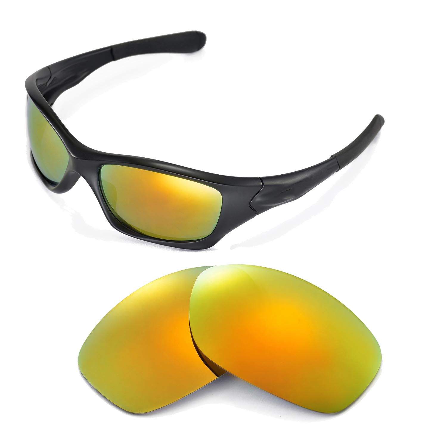 2b71762cbf Details about New Walleva Polarized 24K Gold Replacement Lenses For Oakley  Pit Bull Sunglasses