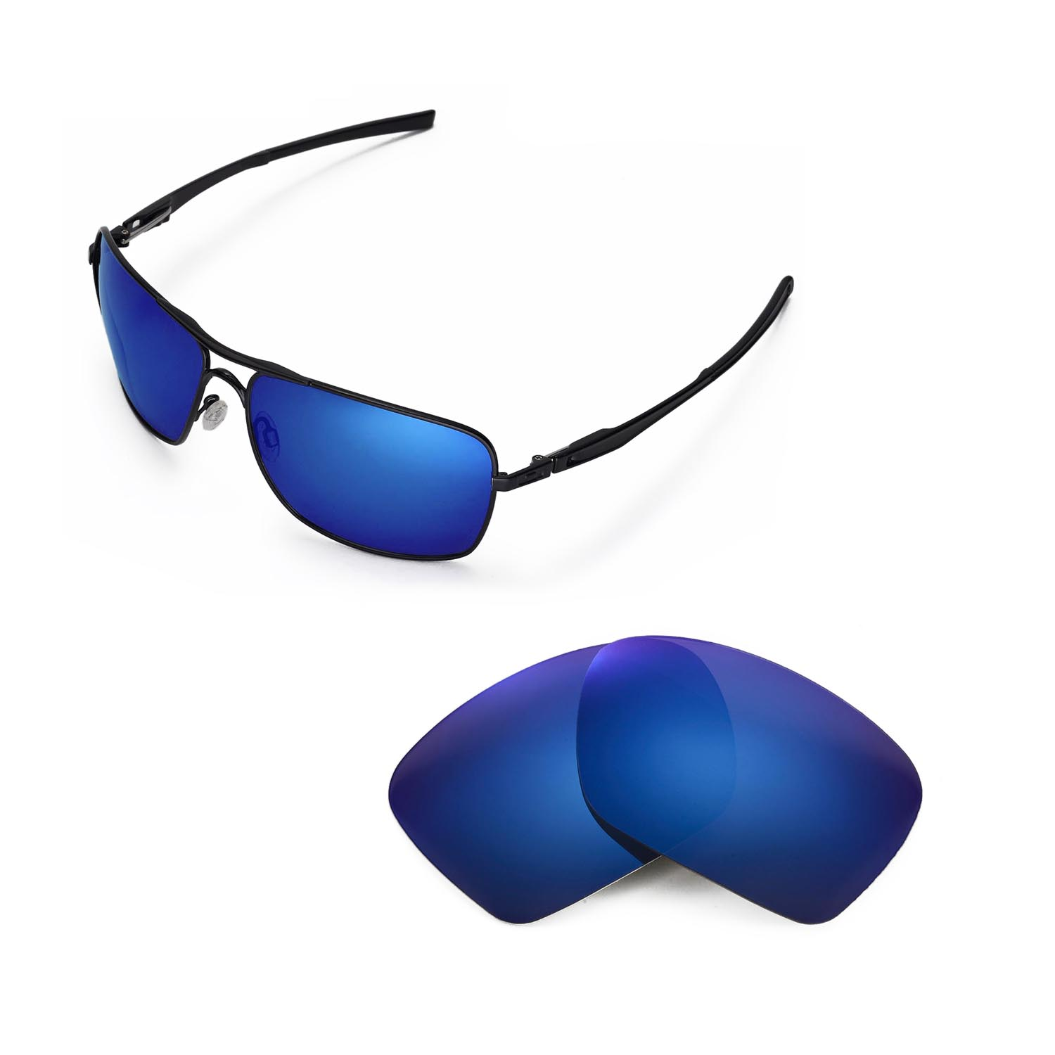 a05f26c924 Details about New Walleva Polarized Ice Blue Replacement Lenses For Oakley  Plaintiff Squared
