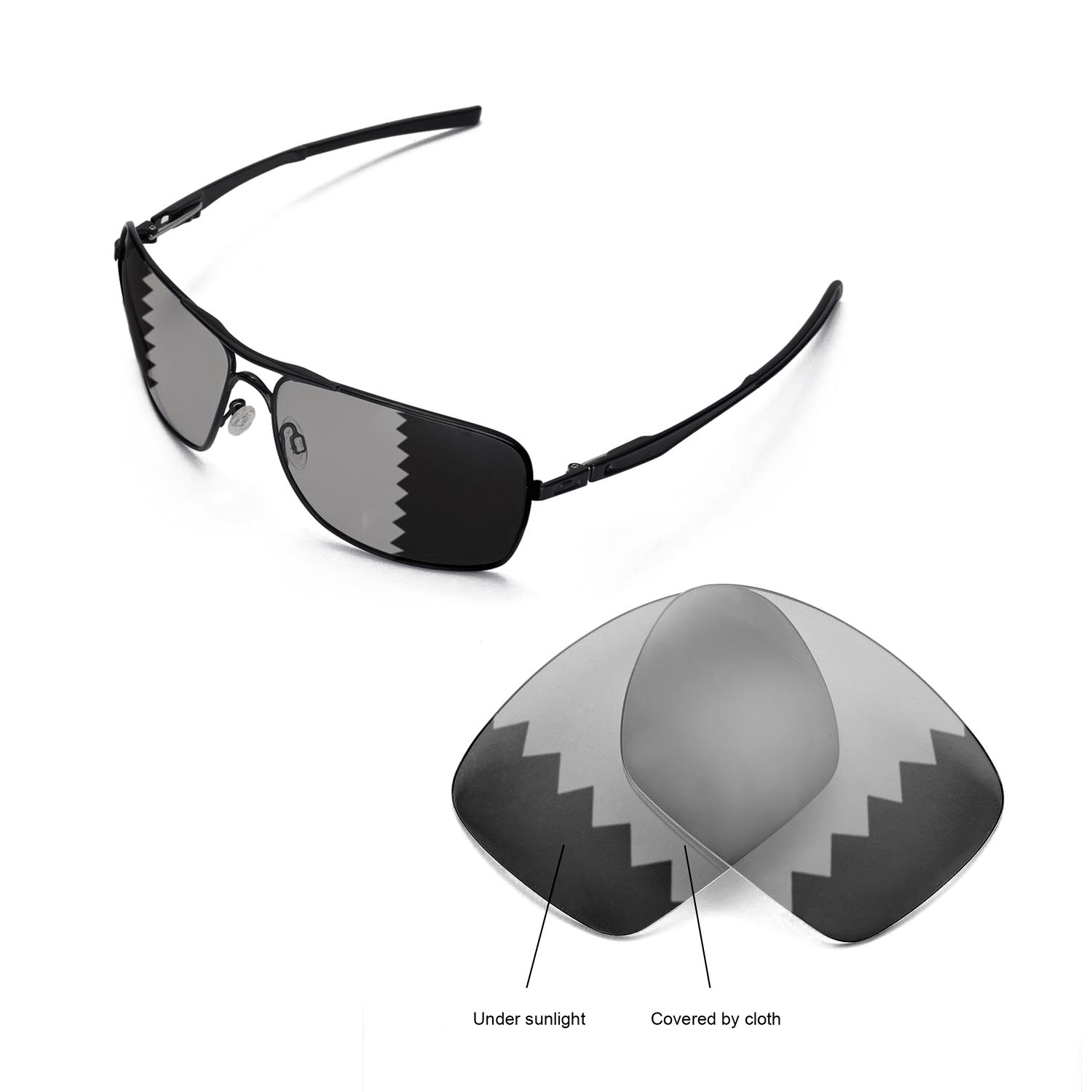 a11c3a07a7 Details about New WL Polarized Transition Replacement Lenses For Oakley  Plaintiff Squared
