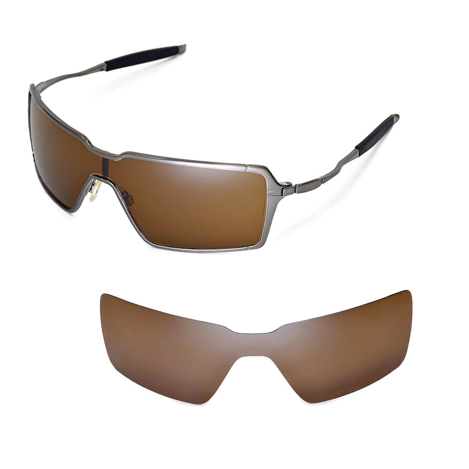 82c11513105 Details about New WL Polarized Brown Replacement Lenses For Oakley  Probation Sunglasses