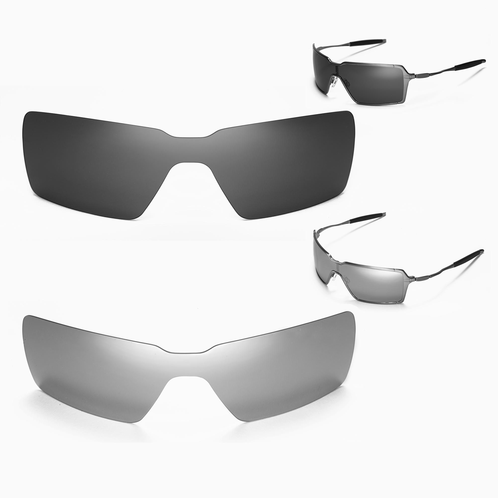 4093d4b80b61e Details about Walleva Polarized Black + Titanium Replacement Lenses for Oakley  Probation