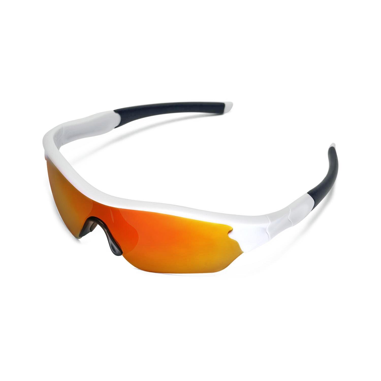 58b2ebfa3cd Details about New Walleva Polarized Fire Red Lenses For Oakley Radar Edge  Sunglasses