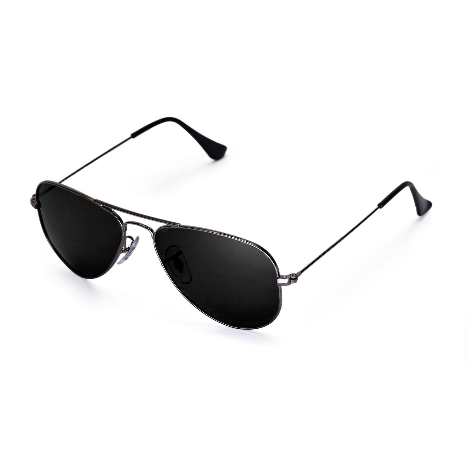 ray ban black aviator polarized