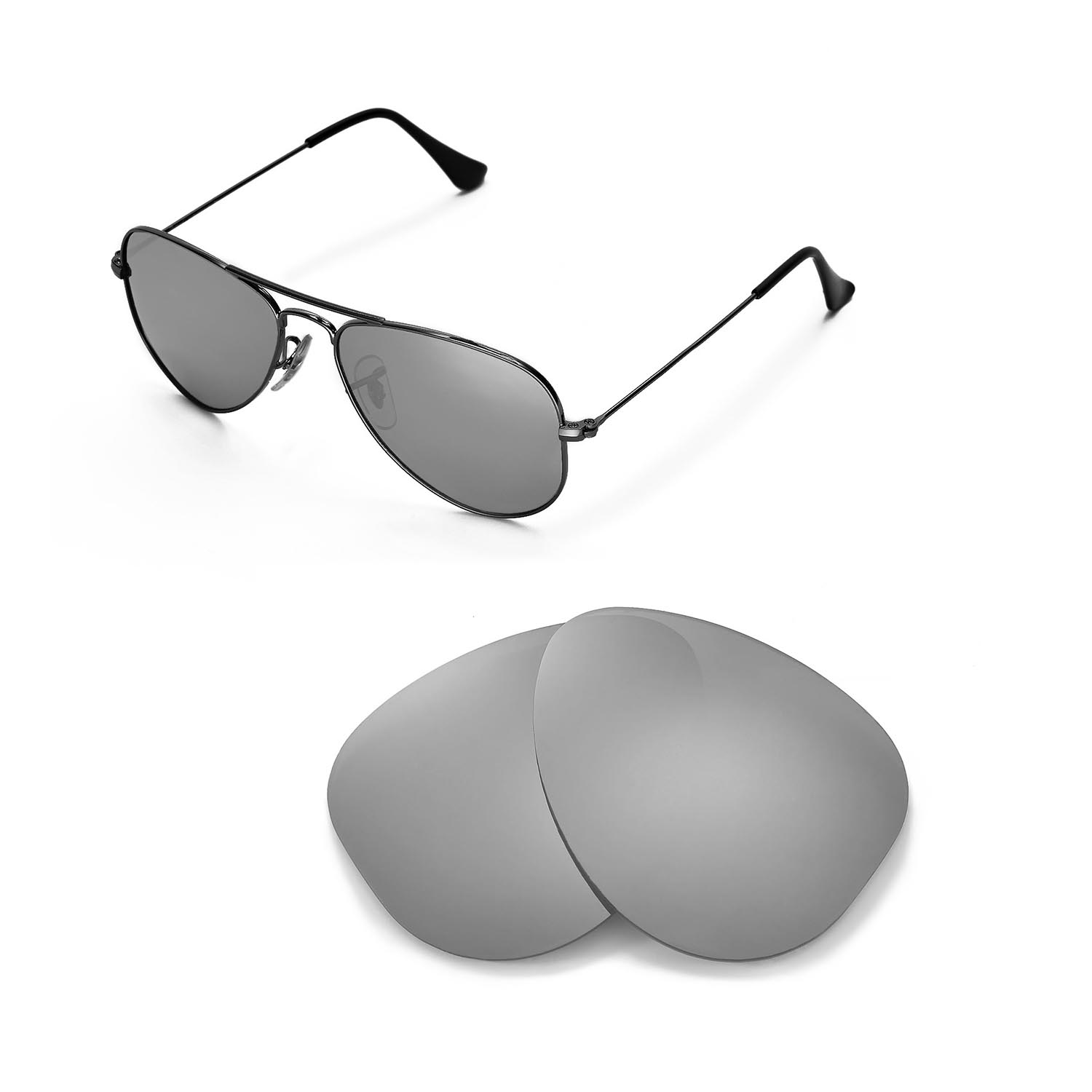 f7109ba1c2 Details about New WL Polarized Titanium Lenses For Ray-Ban Aviator RB3044  Small Metal 52mm
