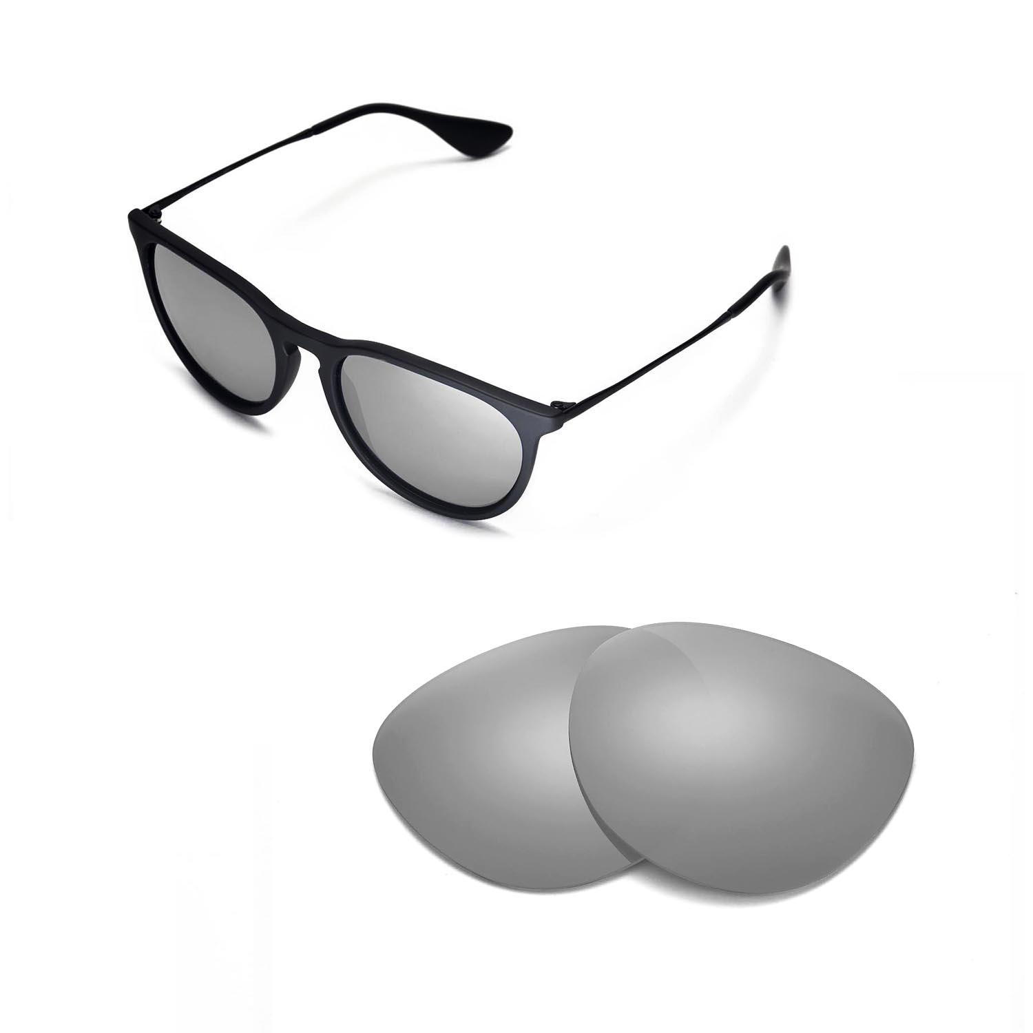 e3e57144ca3 Details about New Walleva Polarized Titanium Lenses For Ray-Ban Erika  RB4171 54m Sunglasses