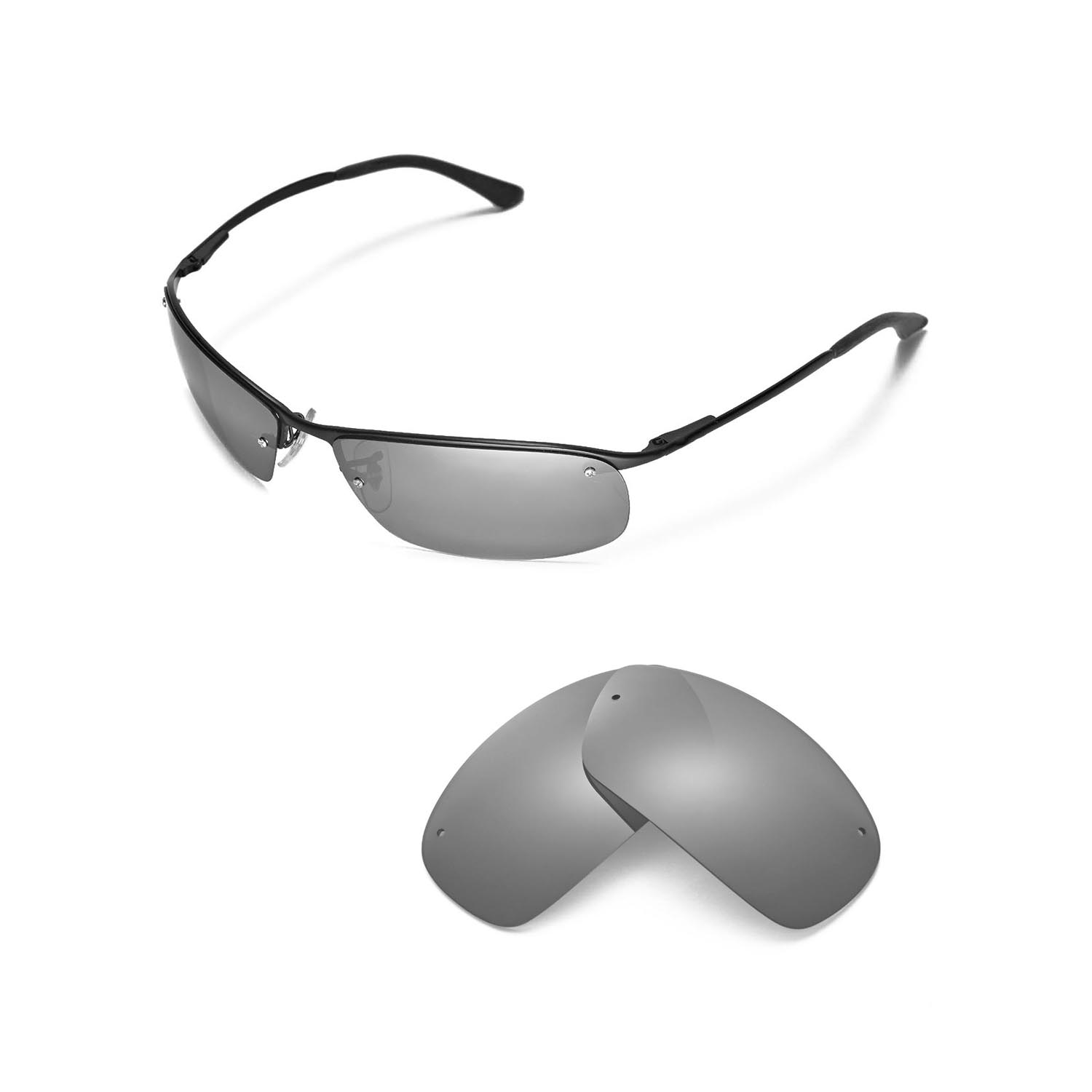 29053dfa5c6 Details about New Walleva Polarized Titanium Replacement For Ray-Ban RB3183  63mm
