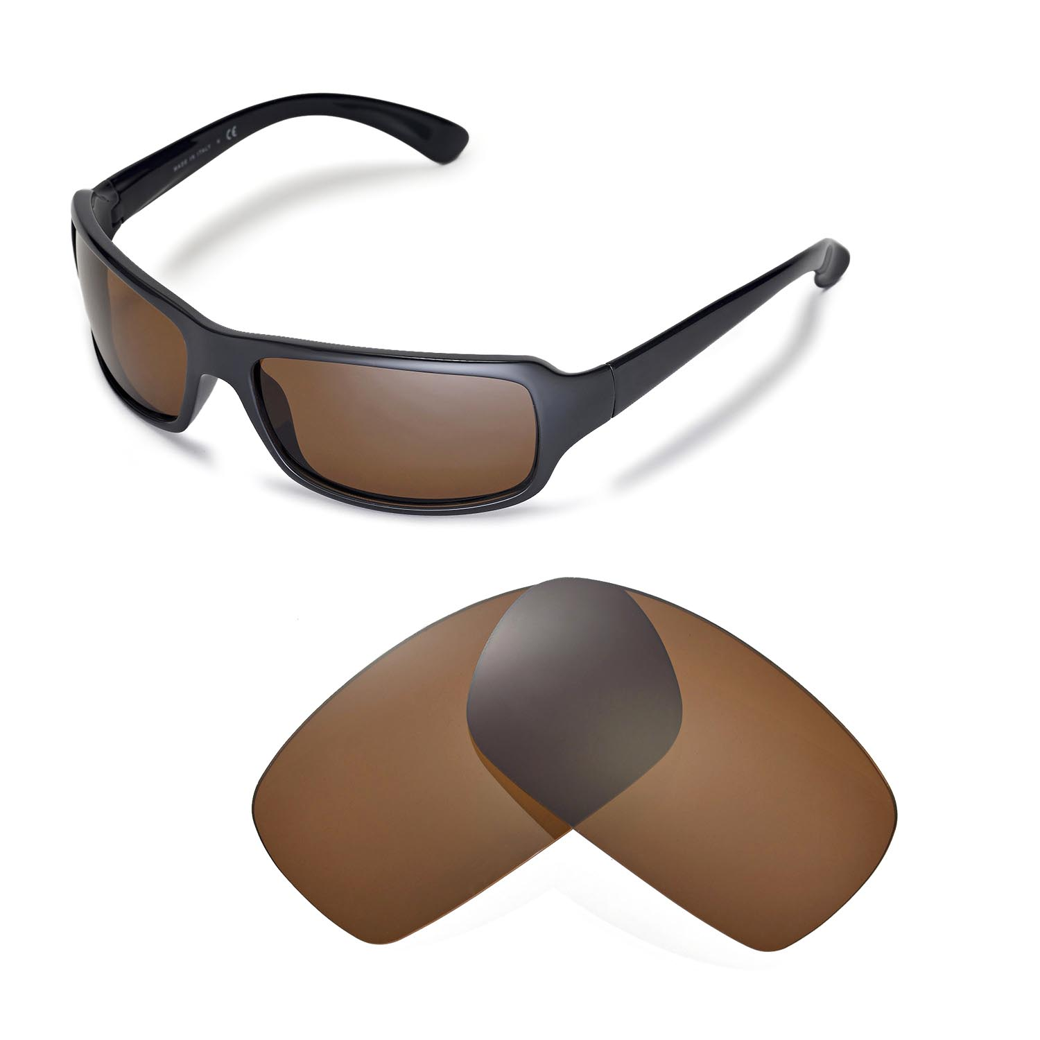c506f65c66 Details about New Walleva Polarized Brown Lenses For Ray-Ban RB4075 61mm