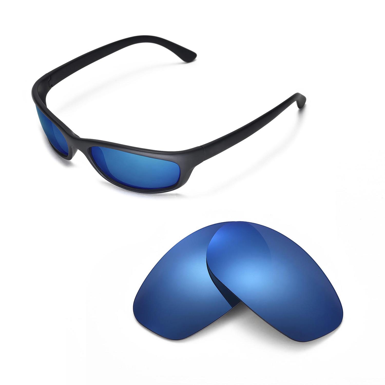 727988e664 Details about New Walleva Polarized Ice Blue Replacement Lenses For Ray-Ban  RB4115 Sunglasses