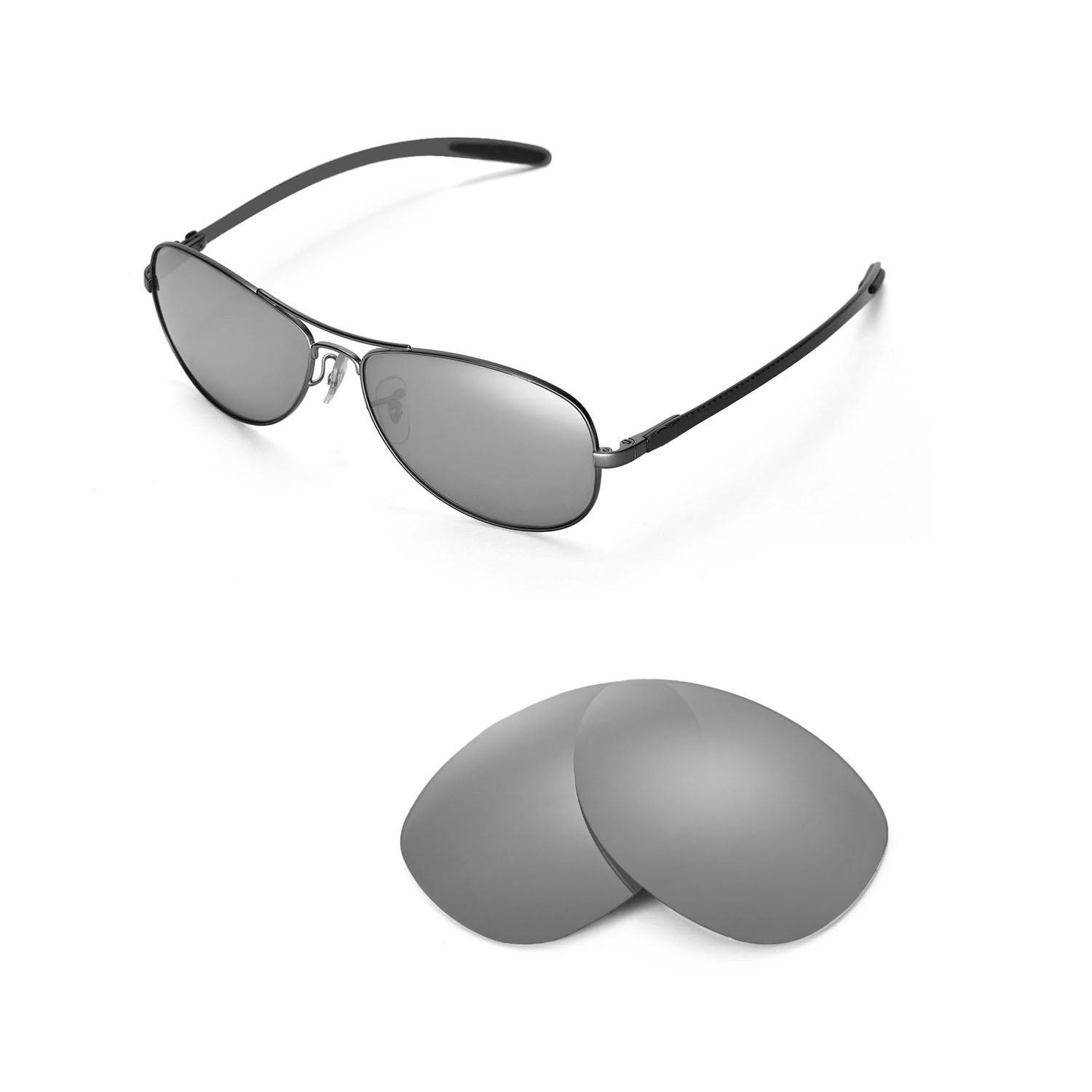 c0620b3bd9 Details about New Walleva Polarized Titanium Replacement For Ray-Ban RB8301  59mm